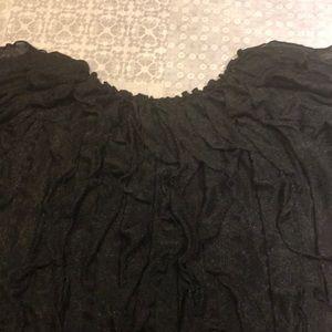 Tops - Black textured top